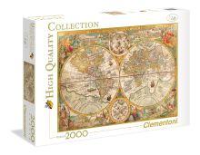 - CLem.Пазл. 2000эл. HQ.32557 Карта известного мира Петера Планциуса, 1594 год. обложка книги
