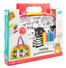 Origami Cat. Сумка для раскрашивания. Lovely cats. 28х20х7см. арт. 03319