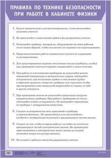 Тихонова Е. Н. - Правила по технике безоп.при работе в кабинете физики(1) обложка книги