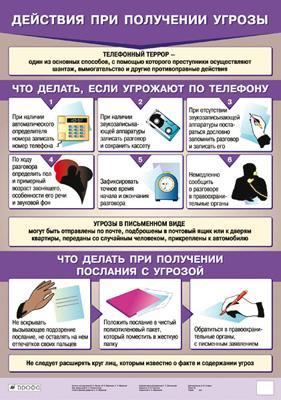 Табл.Действия при получении угрозы.(1) Латчук В.Н., Миронов В.К., Миронов С.К.