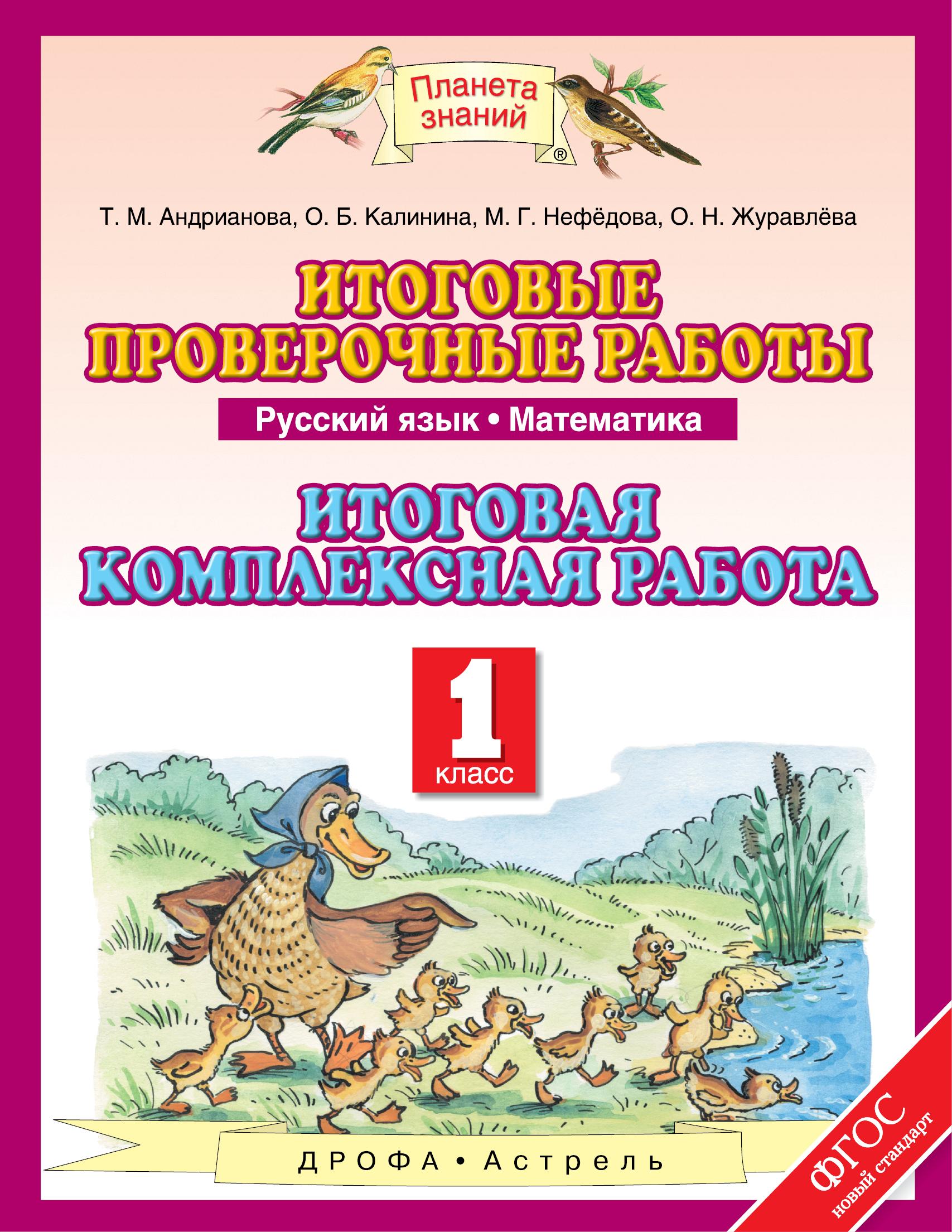 Русский язык. Математика. 1 класс. Итоговые проверочные работы