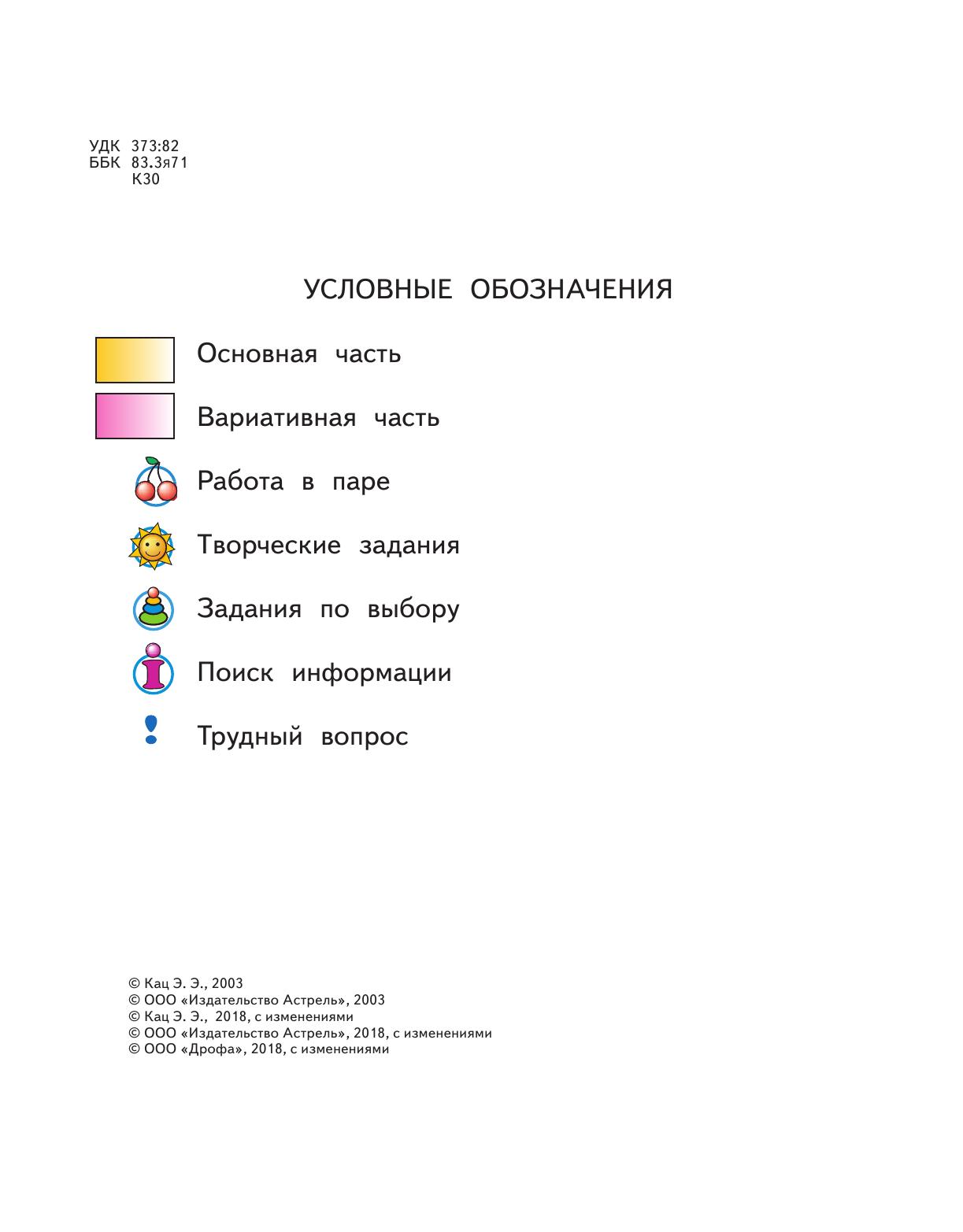 Планирование универсальных учебных действий 2018-2018 2 класс русский занков