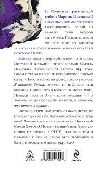 Обложка сзади Главная тайна Цветаевой.