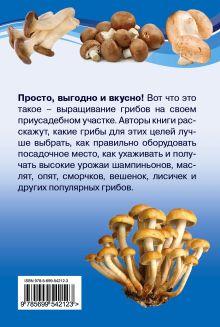 Обложка сзади Грибы выращиваем на своем участке Ращупкина С.Ю., Шнуровозова Т.В.