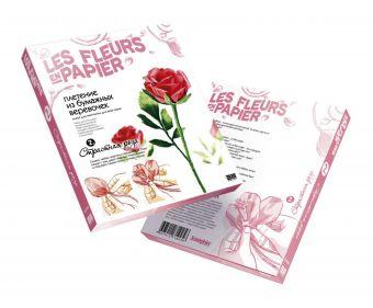 Плетение из бумажных веревочек Набор №2 Страстная роза