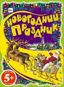 - 5+ Новогодний праздник. Раскраски с цветным образцом обложка книги