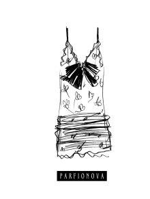 Блокнот для записей «Мода. Платье»