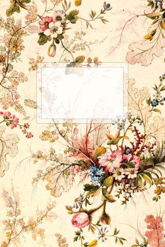 """Блокнот для записей """"Винтажные цветы"""" под А5"""