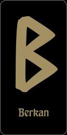 """Руна """"Berkan - защита и стабильность семейного очага"""" (черная)"""