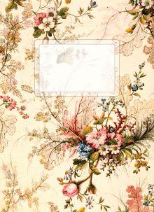 Блокнот А6. Винтажные цветы