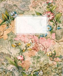Тетрадь без разлиновки. Цветы в орнаменте
