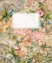 Тетрадь в линейку. Цветы в орнаменте