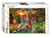 - Пазл 1500 эл.  Сколько тигров? обложка книги