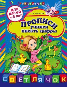 Обложка Прописи: учимся писать цифры: для детей от 5-ти лет Соколова Е.И.