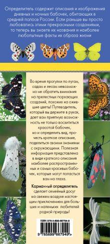 Обложка сзади Бабочки. Определитель самых популярных бабочек Митителло К.Б.