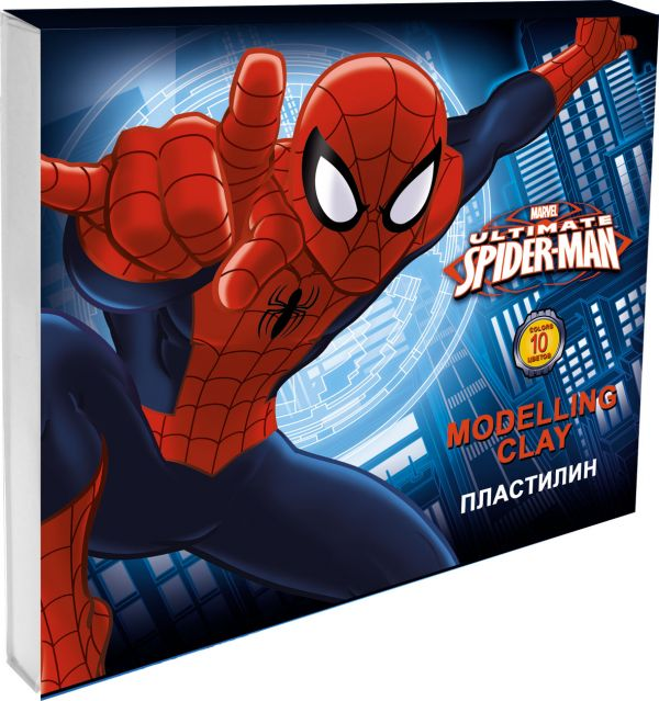 Пластилин 10 цв Spiderman