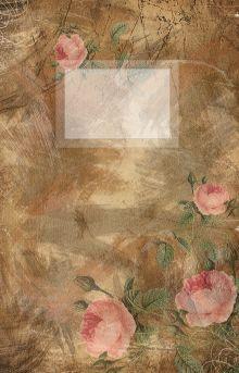 Обложка Блокнот для записей Винтажные розы под А5