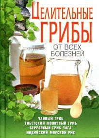 Шкитина Е.Н. - Целительные грибы от всех болезней.Чайный гриб,тибетский молочный гриб,берёзовый гриб чага, индийский морской рис обложка книги