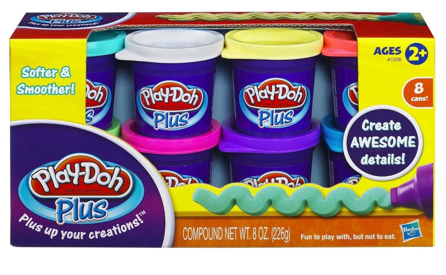 Play-Doh Пластилин: Набор из 8 банок пластилина Play-Doh PLUS (А1206) пластилин play doh a7923 8 банок a7923