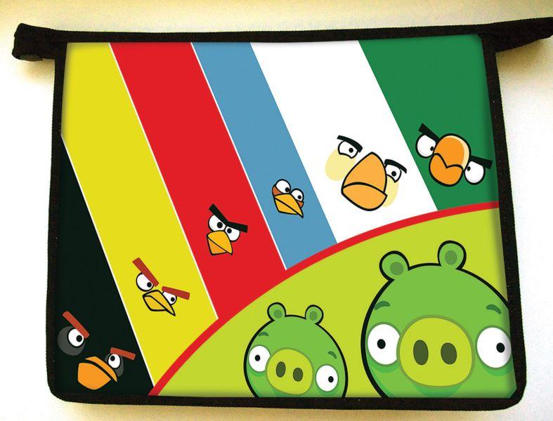 Папка- для тетрадей Angry birds ,формат  А5,пластик, на молнии