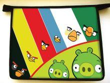 - Папка- для тетрадей Angry birds ,формат  А5,пластик, на молнии обложка книги