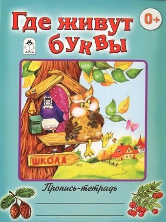 Где живут буквы (пропись-тетрадь цветная) Д.Морозова