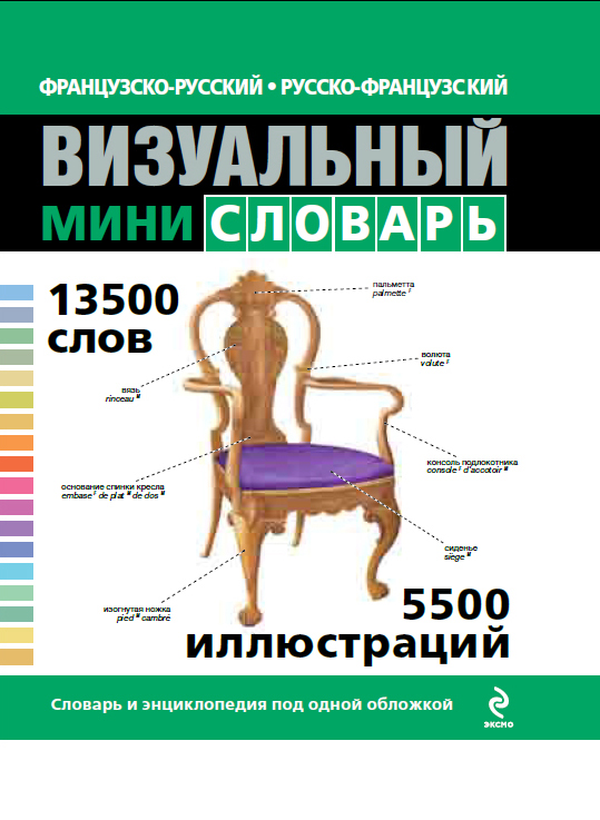 Французско-русский русско-французский визуальный мини-словарь