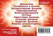 Обложка сзади Формулы по физике (пружина) Елена Клименко