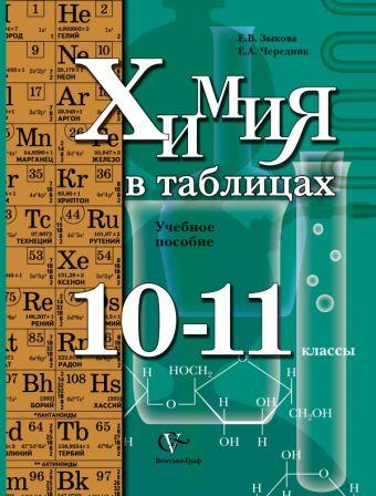 Химия в таблицах. 10–11 классы. Учебное пособие ЗыковаЕ.В., ЧередникЕ.А.
