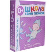 Школа Семи Гномов 0-1 год. Полный годовой курс (12 книг с картонной вкладкой).