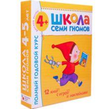 Дарья Денисова - Школа Семи Гномов 4-5 лет. Полный годовой курс (12 книг с играми и наклейками). обложка книги