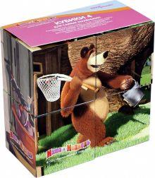 - 4 кубика Маша и Медведь обложка книги