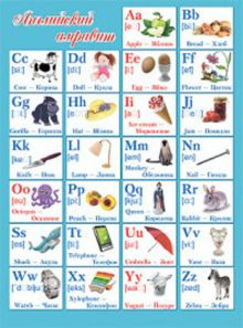 - Английский алфавит (плакат) обложка книги