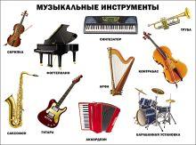 - Музыкальные инструменты (плакат) обложка книги