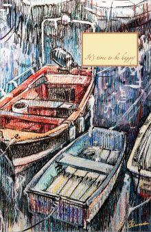 - Блокнот. Рыбацкие лодки на отдыхе обложка книги