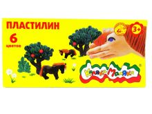 - Пластилин Каляка-Маляка 6 цв. 90 г стек обложка книги