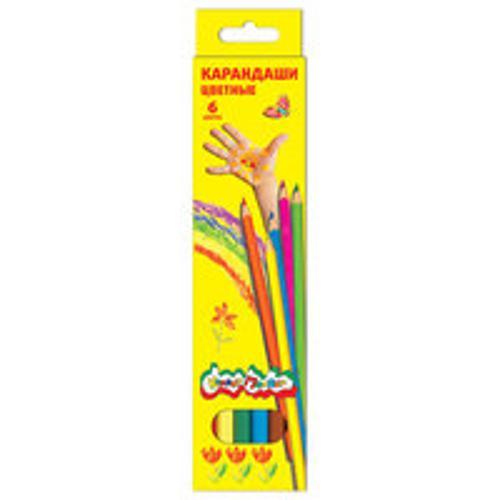 Набор цветн.каранд Каляка-Маляка 6 цв. шестигранные с заточкой
