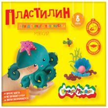- Пластилин Каляка-Маляка для детского творчества 8 цв. 120,00 г стек обложка книги