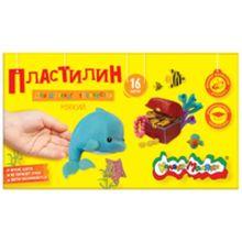 - Пластилин Каляка-Маляка для детского творчества 16 цв. 240,00 г стек обложка книги