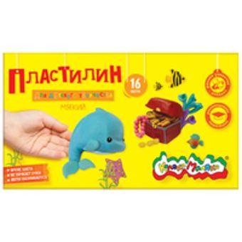 Пластилин Каляка-Маляка для детского творчества 16 цв. 240,00 г стек