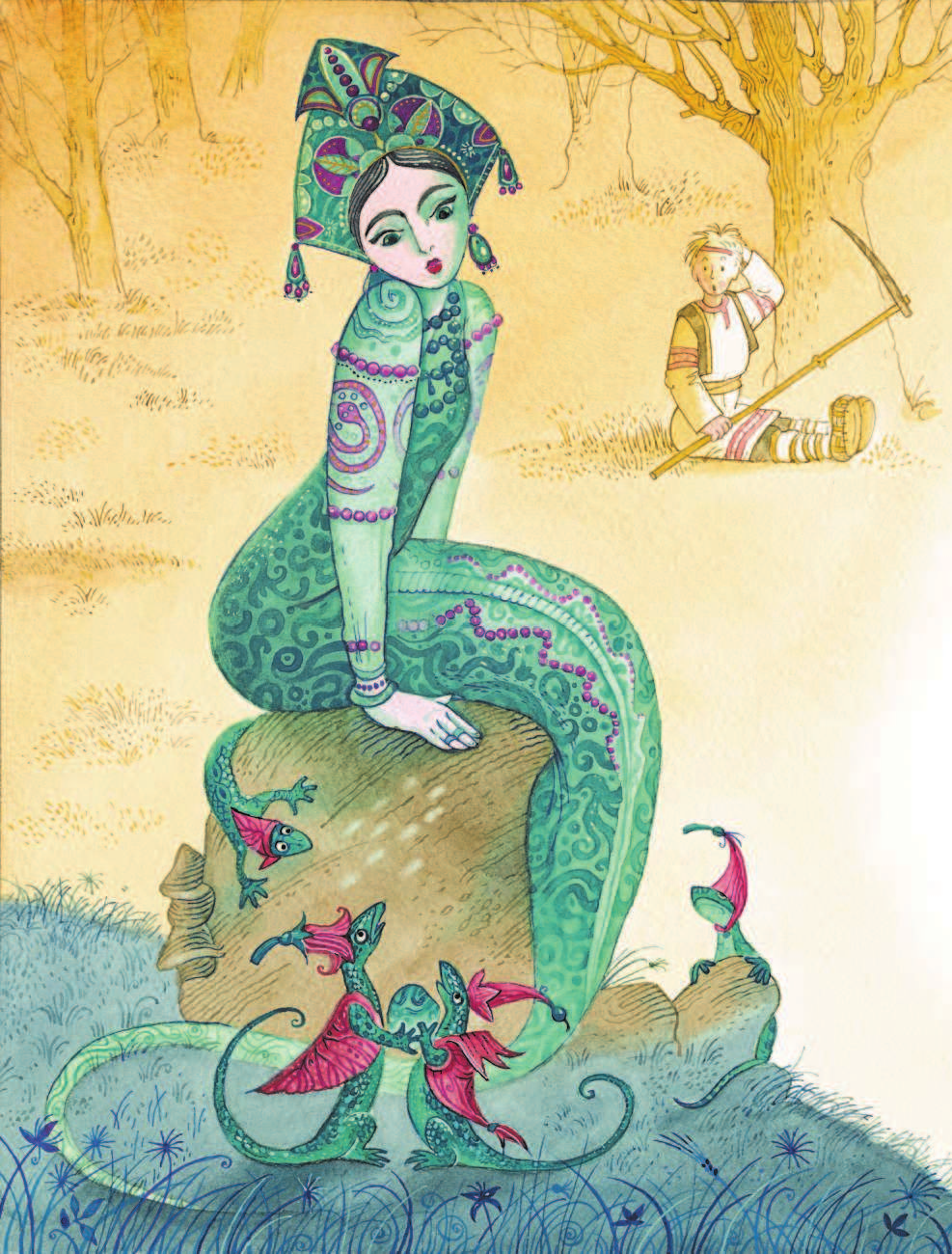 мороз малахитовая шкатулка сказка с картинками шарфы шерсти