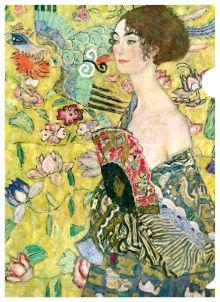- Климт (дама с веером) обложка книги