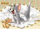 Том и Джерри. Большая раскраска - цветная подсказка.