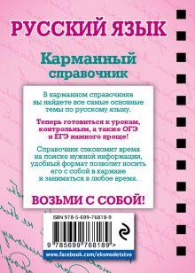 Обложка сзади Русский язык В.А. Рагуля