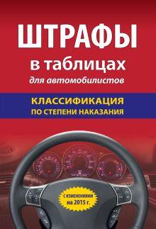 Обложка Штрафы в таблицах для автомобилистов с изм. на 2015 (классификация по степени наказания)