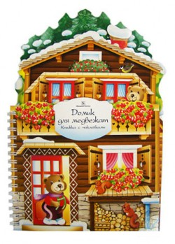 Игрушечные домики. Домик для медвежат. Книжка-игрушка с наклейками. Горнати Елена