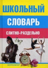 Школьный словарь слитно-раздельно Мудрова И.А.