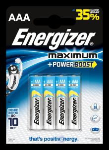 - Батарейка Energizer Maximum LR03/E92 AAA 4 шт обложка книги