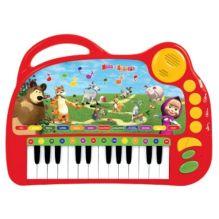 - 183027  Обучающее пианино Умка маша и медведь на бат. 9 стихов+9 песен, свет. Клавиши обложка книги