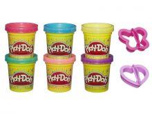 PLAY-DOH - Play-Doh Набор пластилина из 6 баночек Блестящая коллекция (A5417) обложка книги